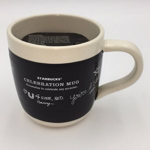 2009 Starbucks Celebration Mug 18oz Chalkboard NWT